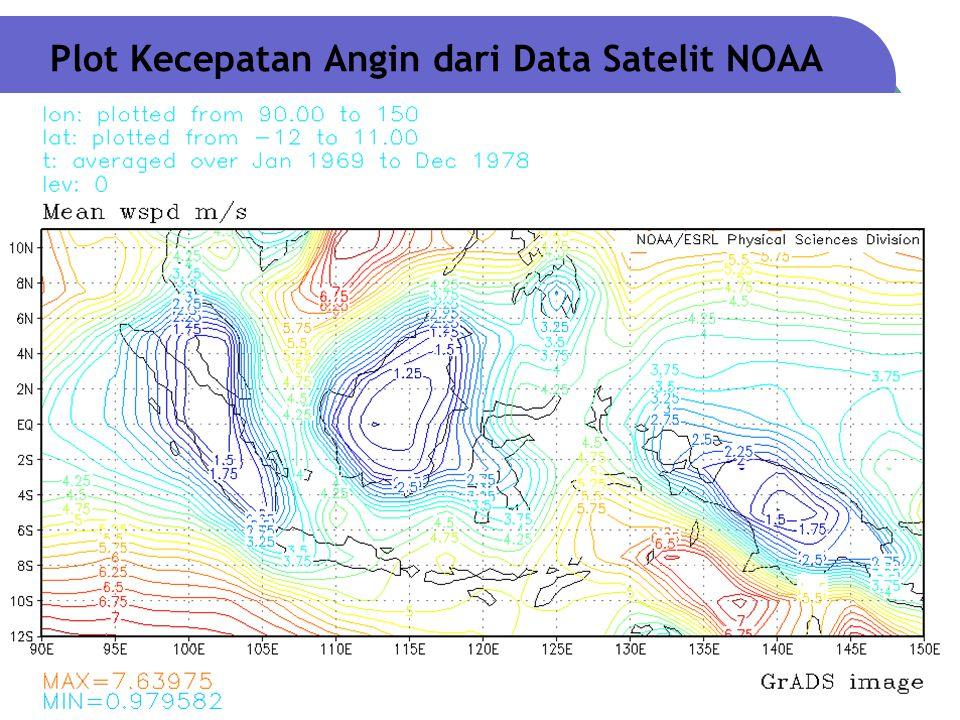 ME4132 - Energi Angin & Matahari Overlay Peta Spasial  Melakukan overlay antara peta spasial kecepatan angin, peta dasar administratif, dan peta topografi.