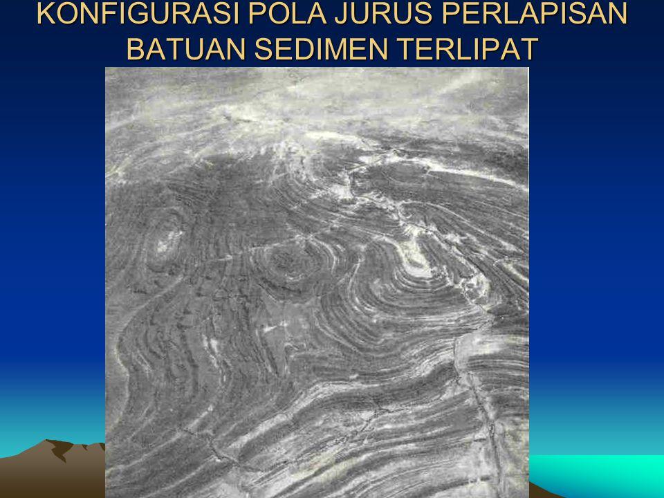 POLA JURUS (LANJUTAN) Dari Peta pola jurus perlapisan batuan diperoleh batas-batas satuan batuan dan pola sebaran kontur-kontur bernilai jurus/ kemiri