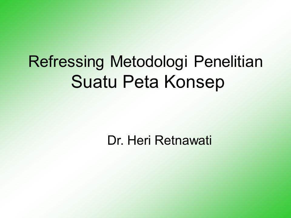 Refressing Metodologi Penelitian Suatu Peta Konsep Dr. Heri Retnawati