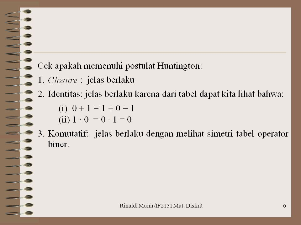 Rinaldi Munir/IF2151 Mat. Diskrit6