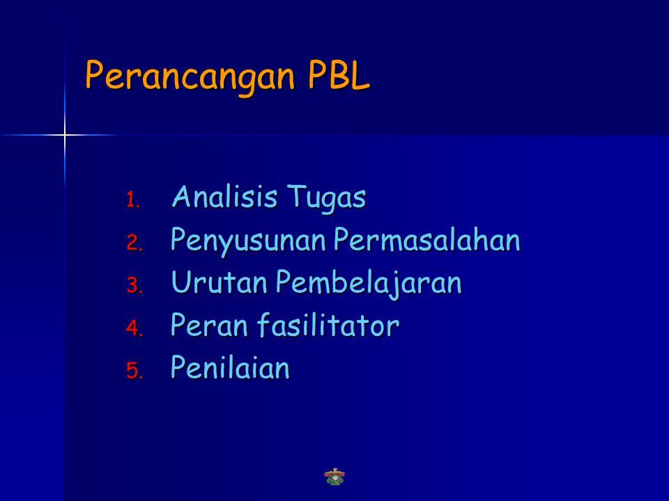 Perancangan PBL 1.Analisis Tugas 2. Penyusunan Permasalahan 3.