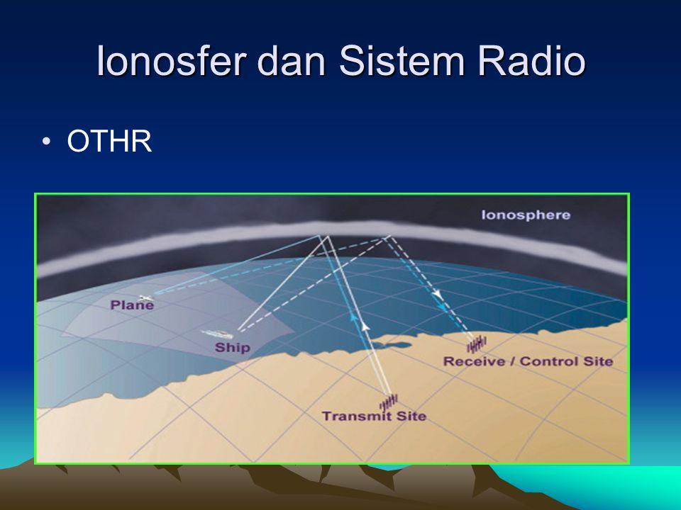 Ionosfer dan Sistem Radio •OTHR
