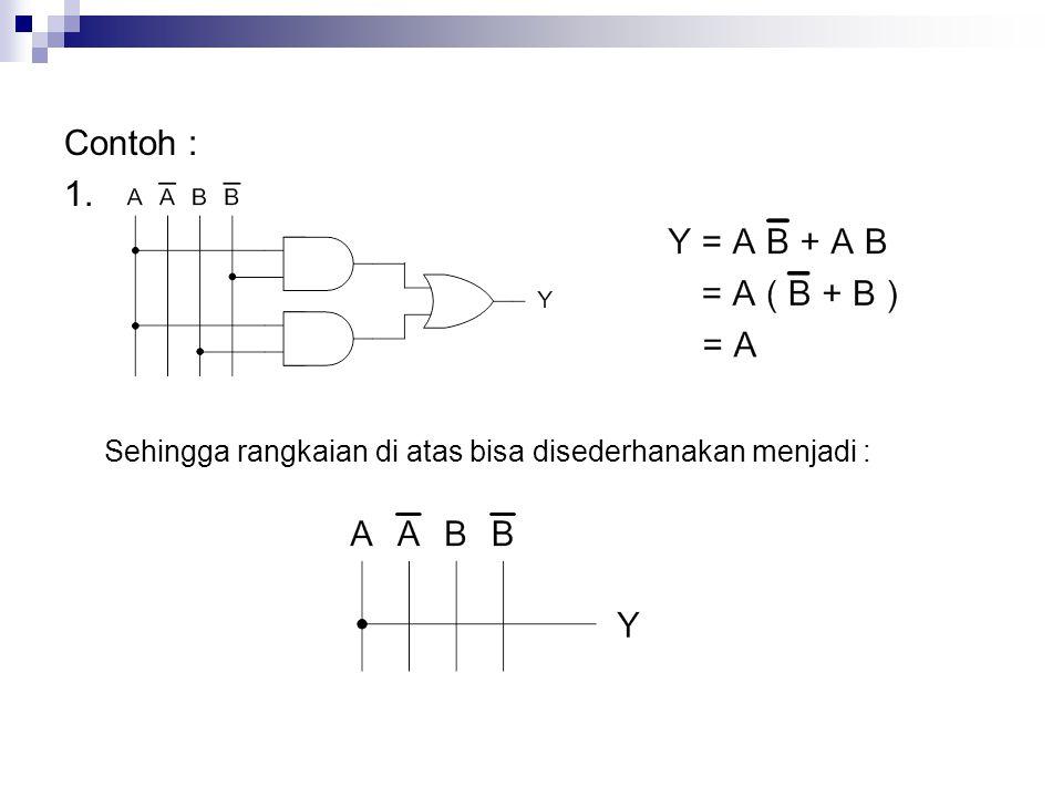 Contoh : 1. Sehingga rangkaian di atas bisa disederhanakan menjadi :
