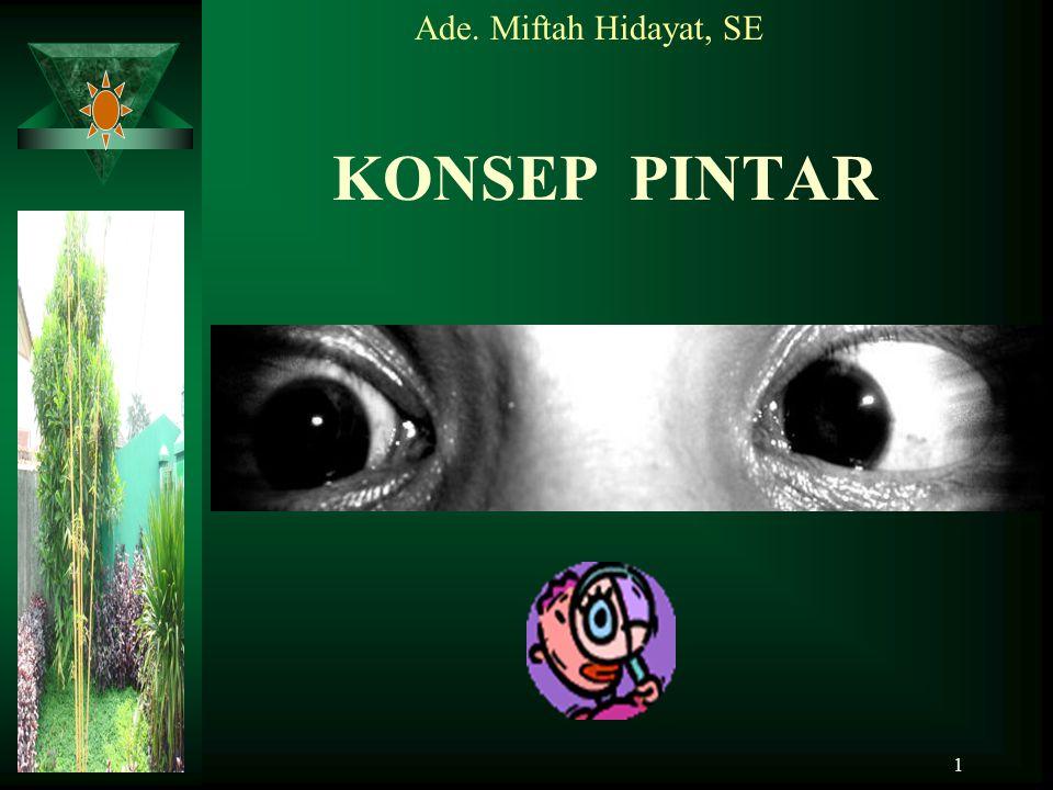 1 KONSEP PINTAR Ade. Miftah Hidayat, SE