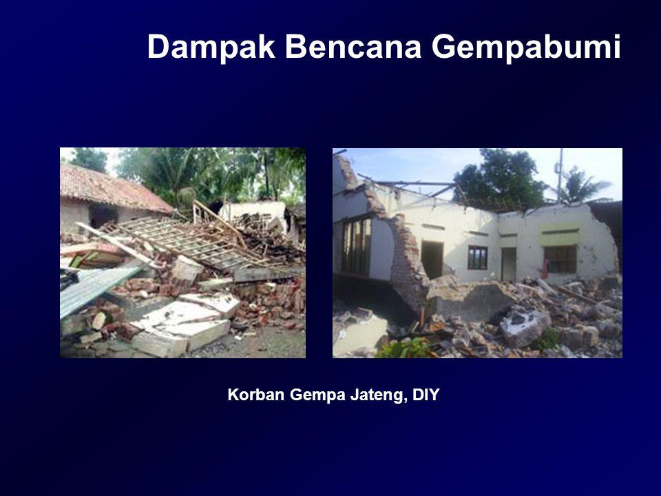 Dampak Bencana Gempabumi Korban Gempa Jateng, DIY