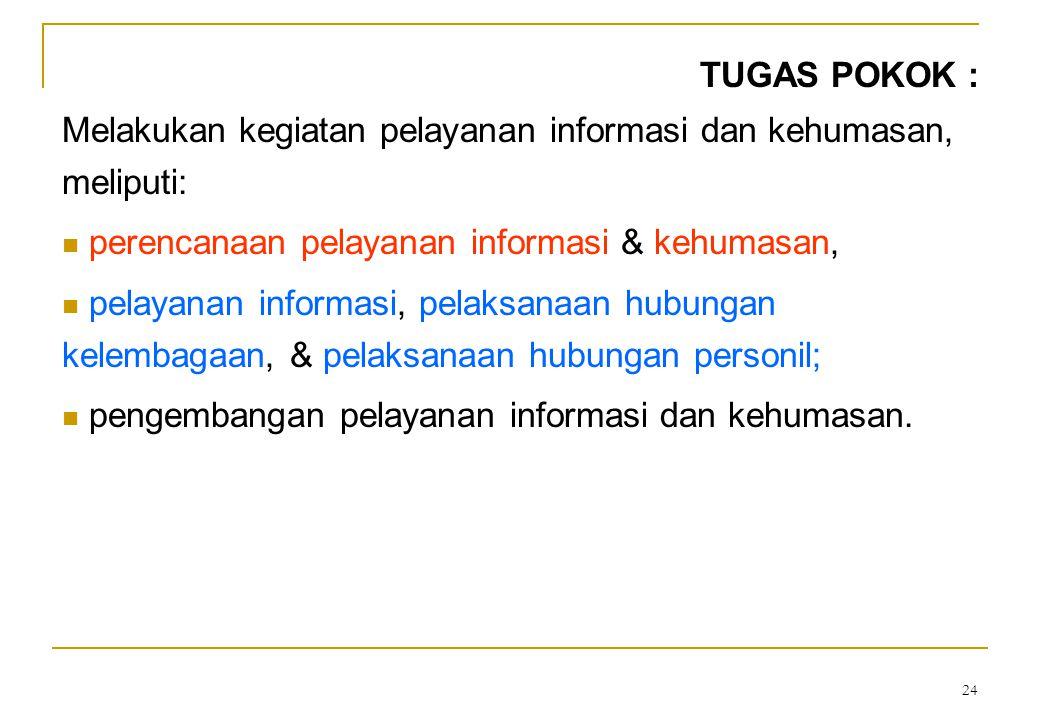 23 Dasar hukum: • Keputusan Menpan Nomor 117/Kep/M.PAN/10/2003 • Keputusan Bersama Kepala BKN dan Kepala LIN Nomor 01/SKB/KA.LIN/2003 dan Nomor 48 Tah