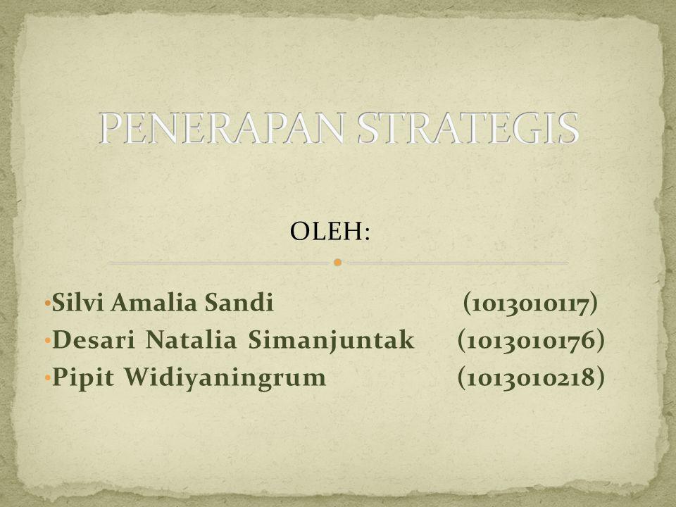 OLEH: • Silvi Amalia Sandi (1013010117) • Desari Natalia Simanjuntak (1013010176) • Pipit Widiyaningrum (1013010218)