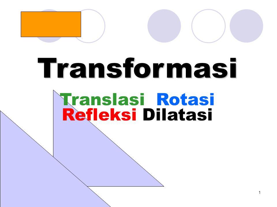 1 Transformasi Translasi Rotasi Refleksi Dilatasi