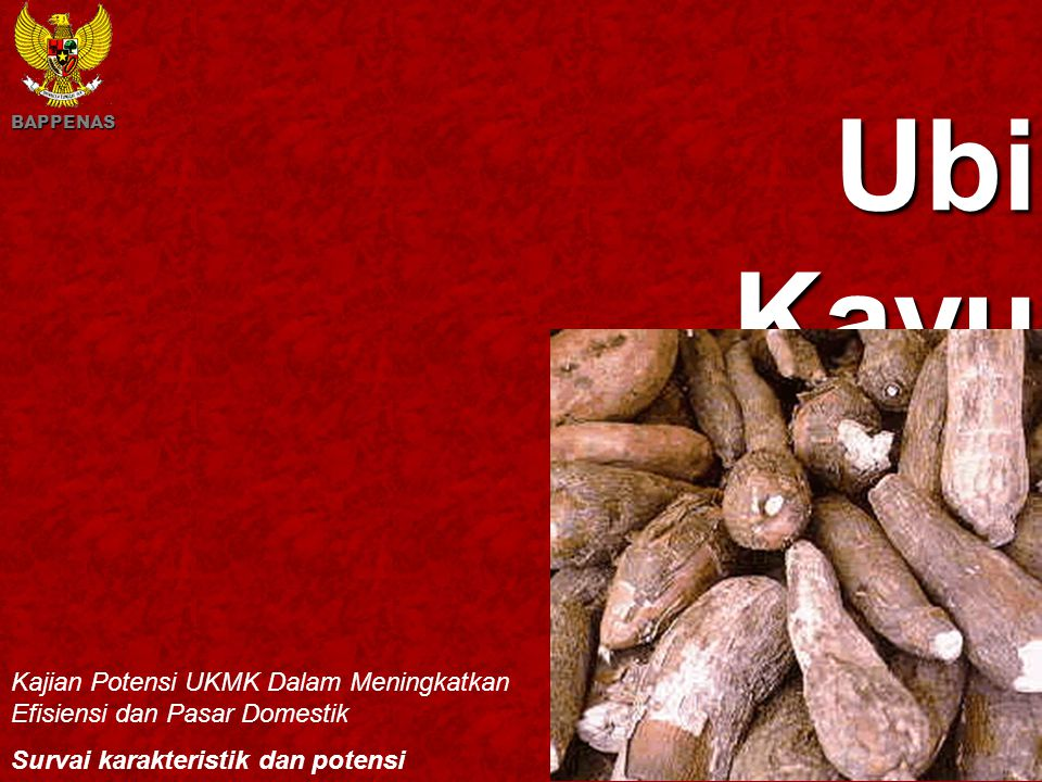 Kawi Boedisetio telebiro.bandung0@clubmember.org Ubi Kayu Kajian Potensi UKMK Dalam Meningkatkan Efisiensi dan Pasar Domestik Survai karakteristik dan