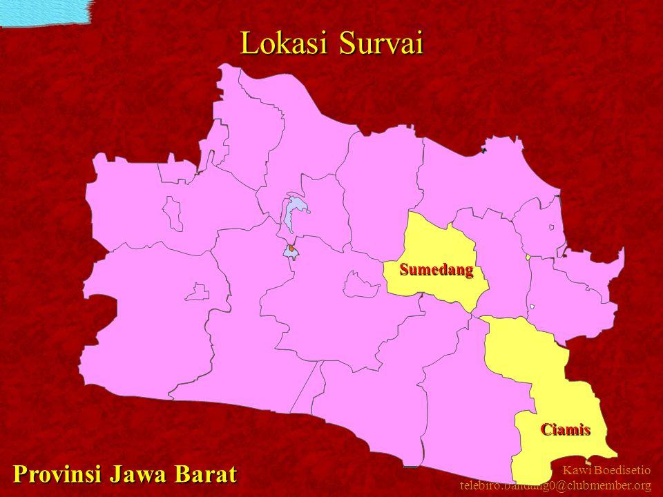 Kawi Boedisetio telebiro.bandung0@clubmember.org Lokasi Survai Sumedang Ciamis Provinsi Jawa Barat