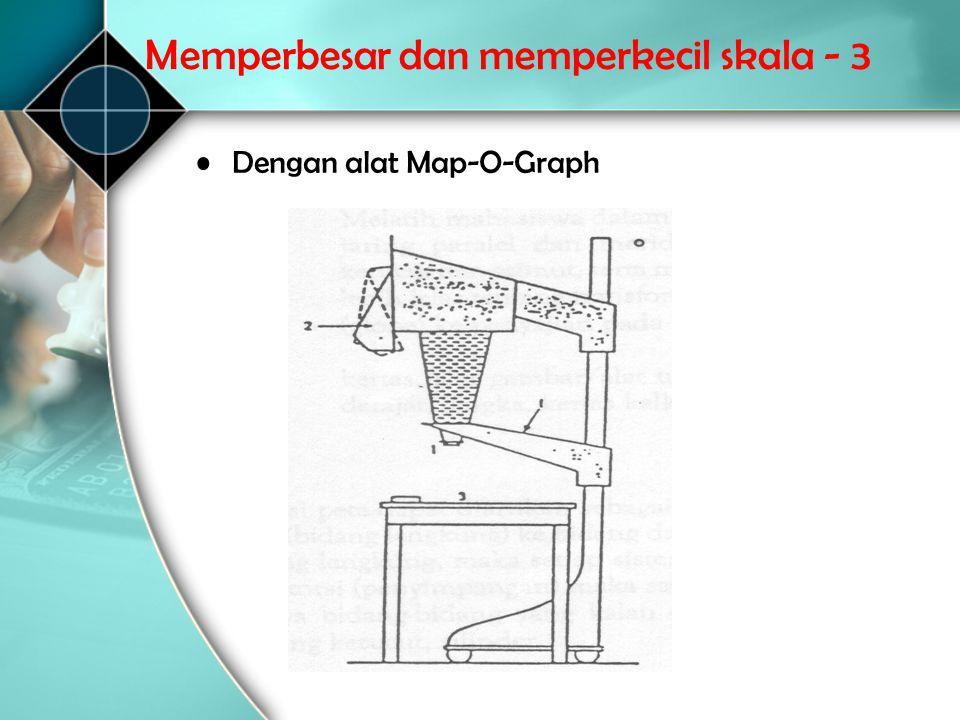 Memperbesar dan memperkecil skala - 3 •Dengan alat Map ‑ O ‑ Graph