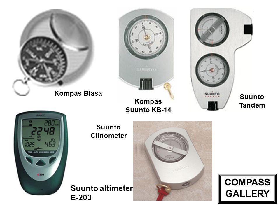 Kompas Suunto KB-14 Kompas Biasa Suunto altimeter E-203 Suunto Tandem Suunto Clinometer COMPASS GALLERY