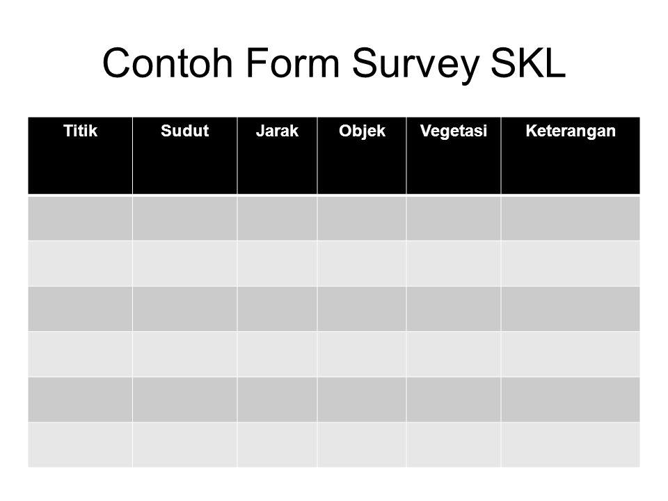 Contoh Form Survey SKL TitikSudutJarakObjekVegetasiKeterangan