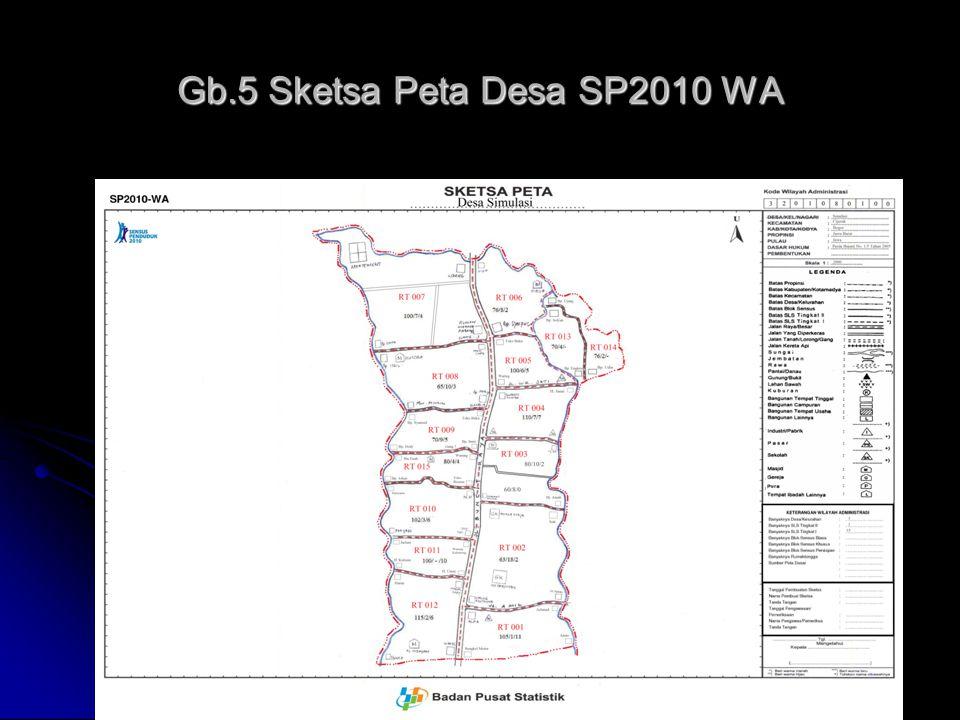 35 Gb.5 Sketsa Peta Desa SP2010 WA