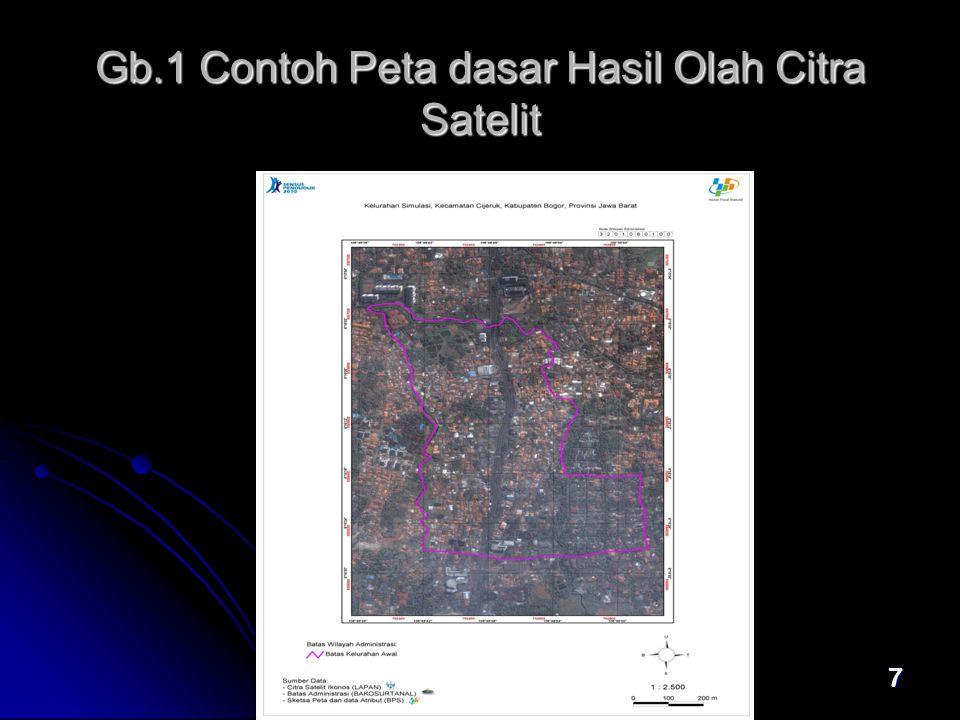 7 Gb.1 Contoh Peta dasar Hasil Olah Citra Satelit