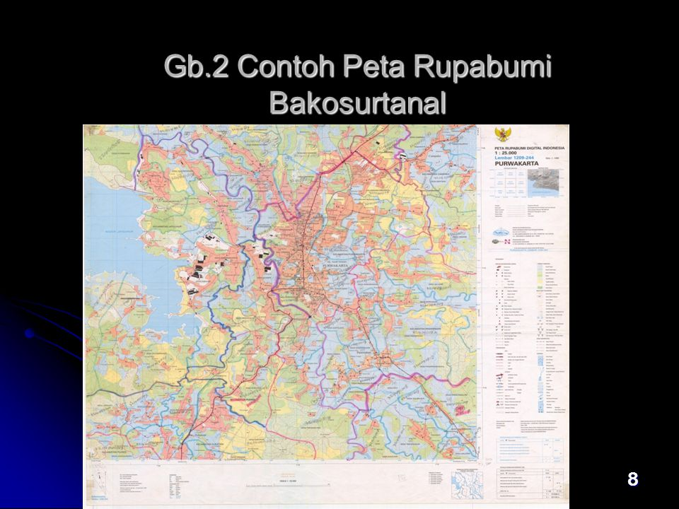 8 Gb.2 Contoh Peta Rupabumi Bakosurtanal