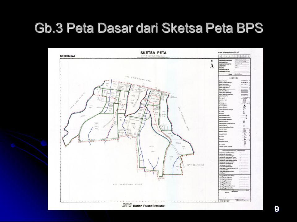 9 Gb.3 Peta Dasar dari Sketsa Peta BPS