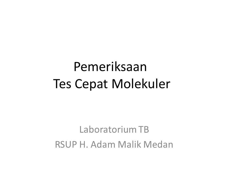 Pemeriksaan Tes Cepat Molekuler Laboratorium TB RSUP H. Adam Malik Medan