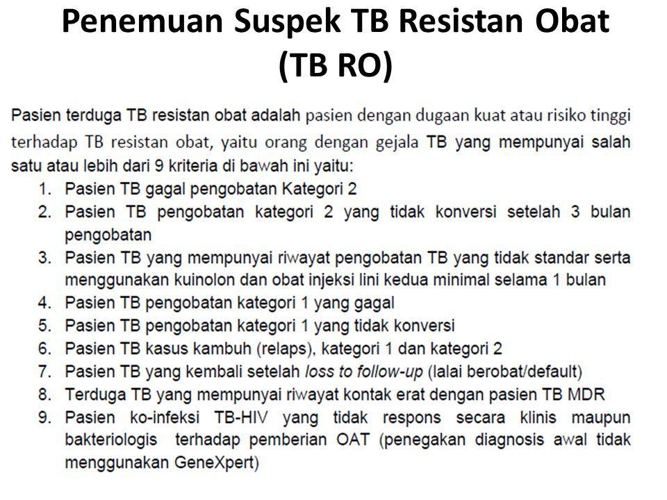 Penemuan Suspek TB Resistan Obat (TB RO)
