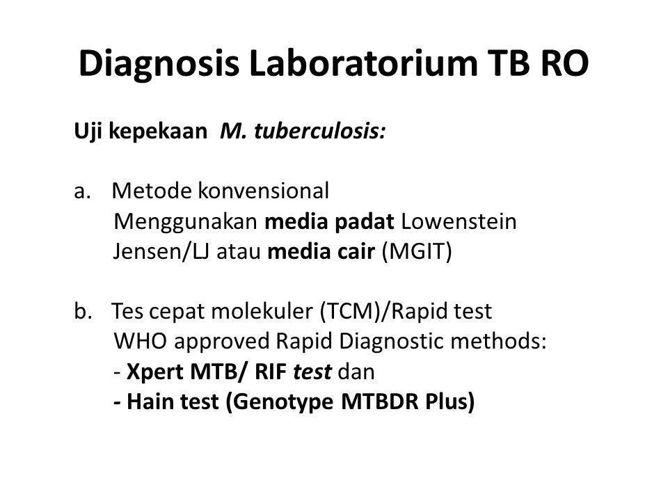 Diagnosis Laboratorium TB RO Uji kepekaan M.