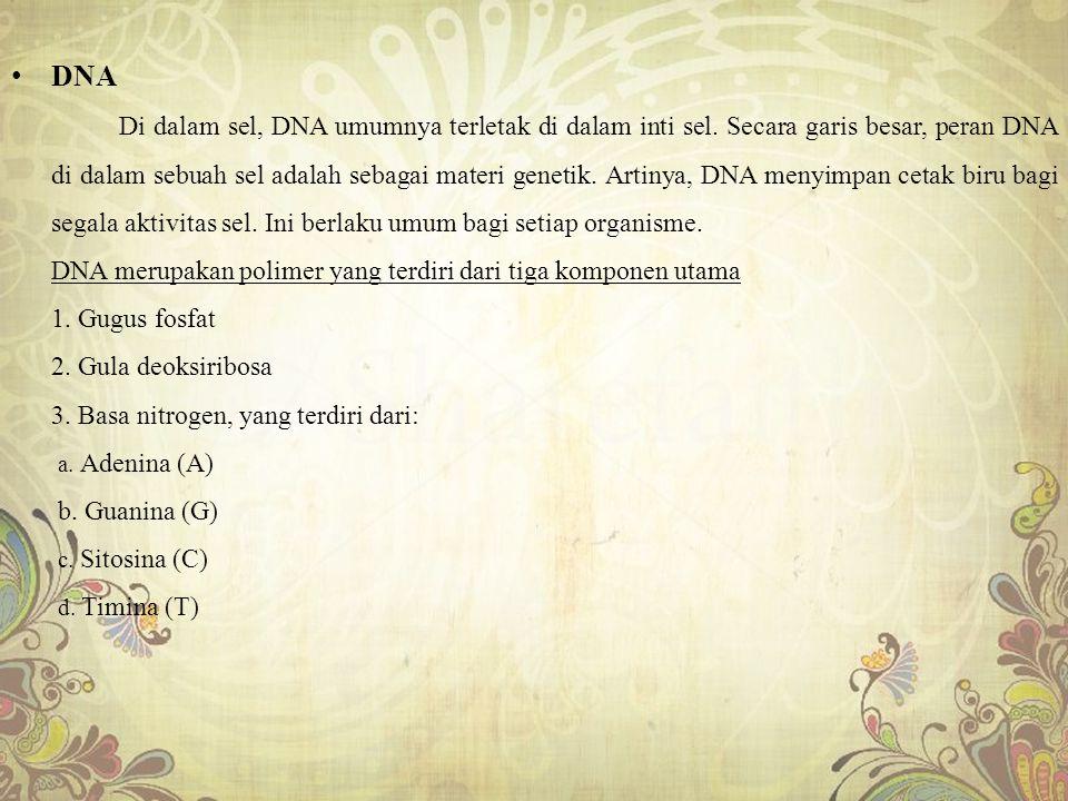 7.Basa nitrogen yang termasuk purin adalah.... a.