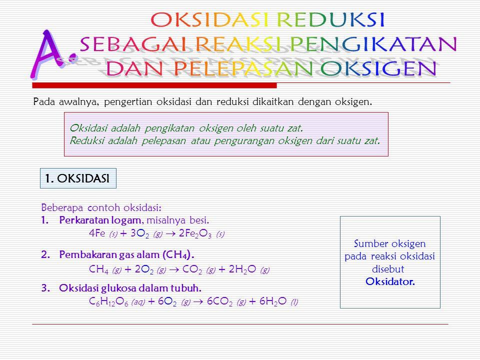 Pada awalnya, pengertian oksidasi dan reduksi dikaitkan dengan oksigen.