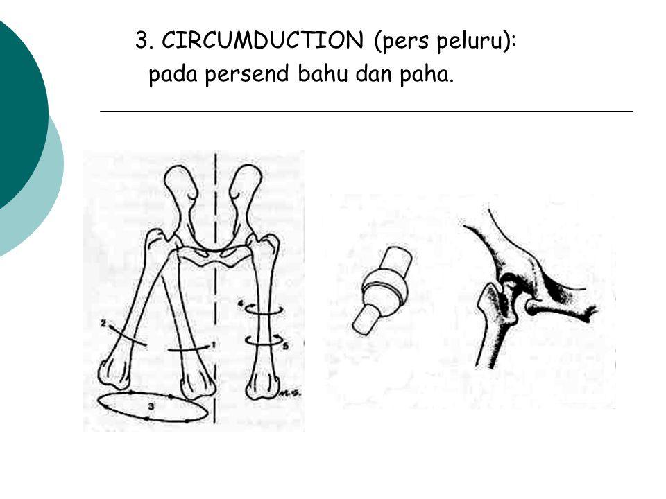 2. PERSENDIAN SIKU: pergerakan sekitar satu atau bbrp axis tlg. - flexio : memperkecil sudut persendian - extensio : memperbesar sdt persendian. flexi