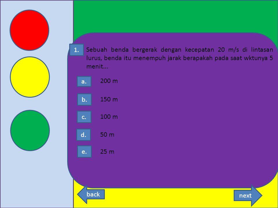 Latihan soal back next 1.Pilihlah jawaban yang paling benar di bawah ini 2.Apakah pilihan anda sudah benar dan yakin MULAI