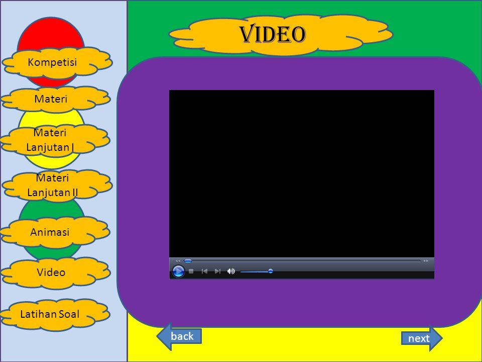 animasi Kompetisi Latihan Soal Materi Animasi Materi Lanjutan I Materi Lanjutan II Video back next