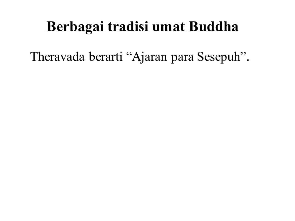 Mahayana Amitabha Buddha : Mereka percaya bahwa Nirvana telah menjadi terlalu sulit untuk dicapai dengan usaha sendiri, dan hanya melalui pengabdian kepada Amitabha, seseorang dapat terlahir kembali di Tanah Suci dimana pencerahan terjamin.