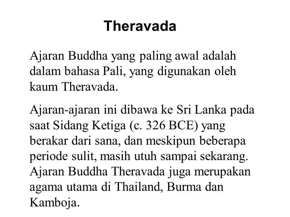 Mahayana Mahayana mengembangkan konsep baru, khususnya teladan Bodhisattva, yang kemudian mereka rancang kedalam sutra- sutra baru dan mengatakan mereka bersumber dari Buddha.