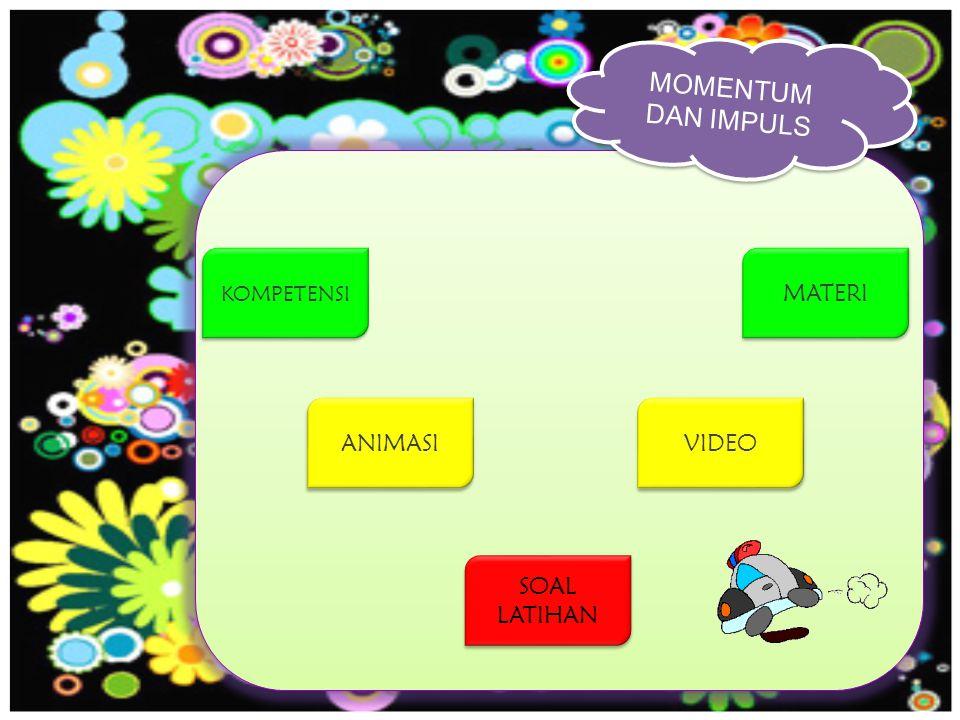 MOMENTUM DAN IMPULS MENU MATERI ANIMASI VIDEO SOAL LATIHAN Standar Kompetensi : 1.