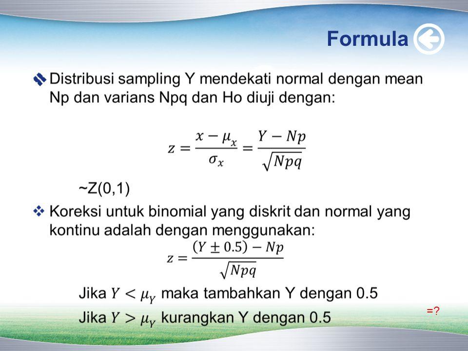 Formula  =?