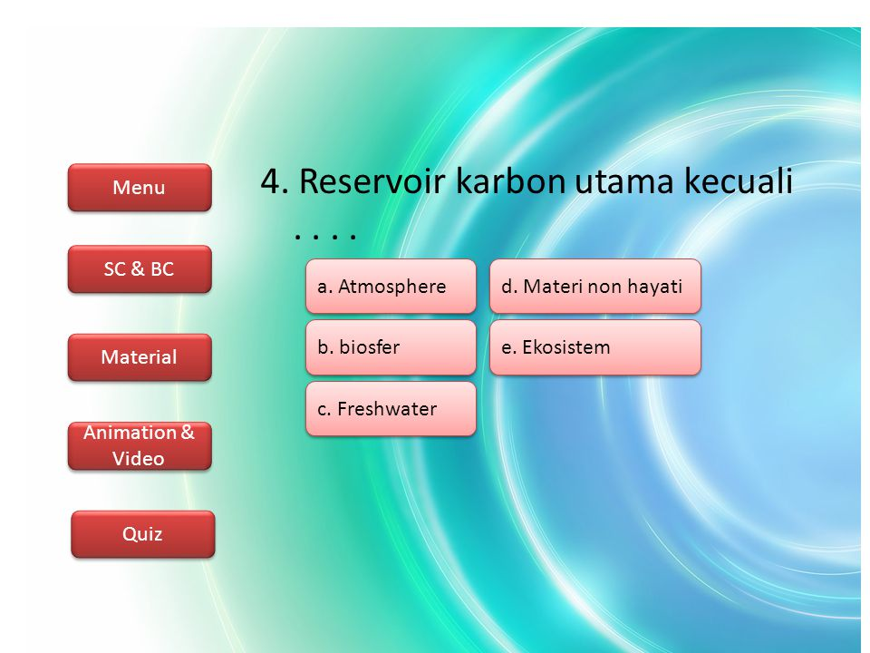 Menu SC & BC Material Animation & Video Quiz 5.