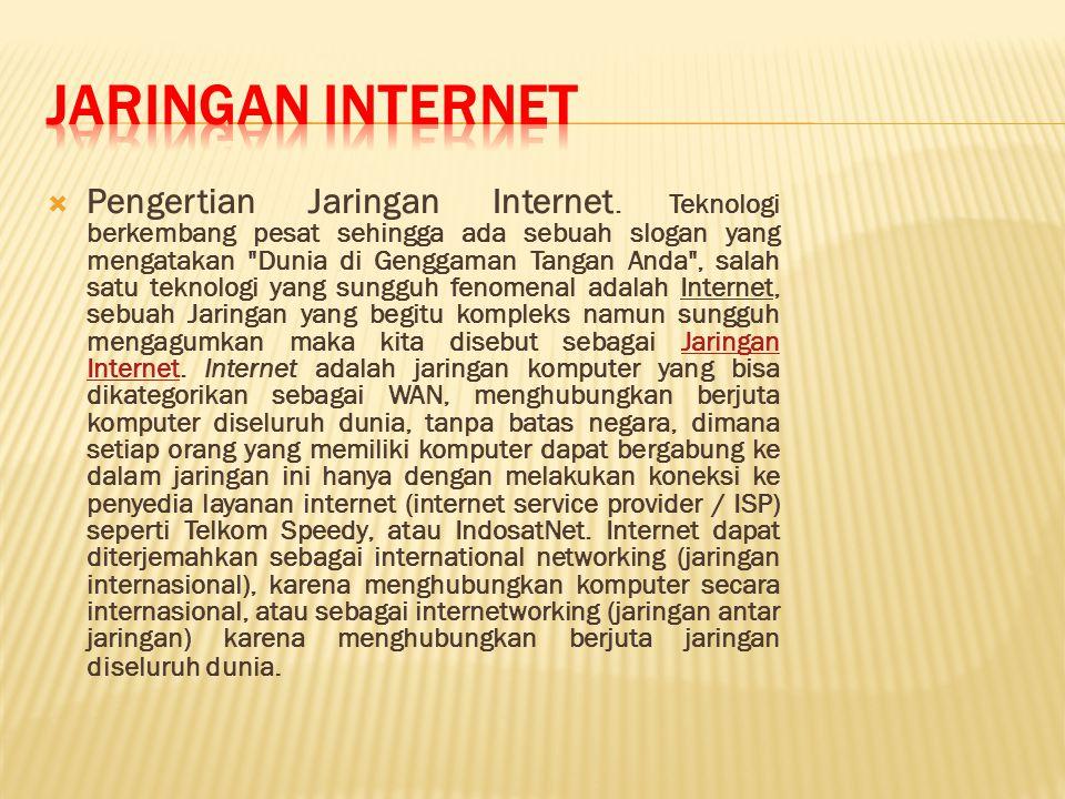  Pengertian Jaringan Internet.