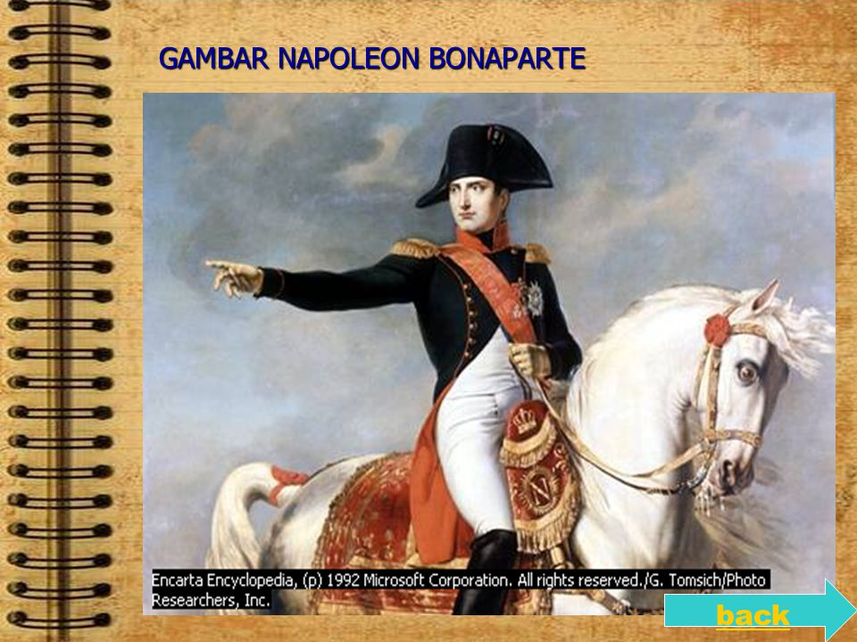 GAMBAR NAPOLEON BONAPARTE back