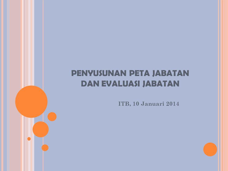 PENYUSUNAN PETA JABATAN DAN EVALUASI JABATAN ITB, 10 Januari 2014