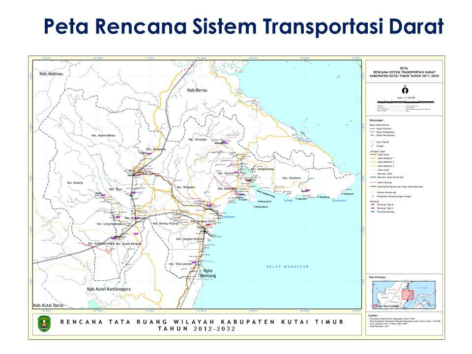 Peta Rencana Sistem Transportasi Darat