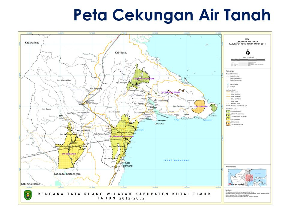Peta Cekungan Air Tanah