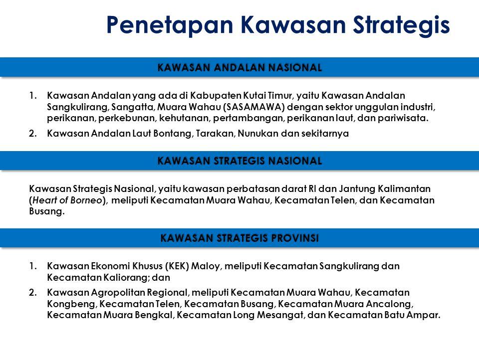 KAWASAN ANDALAN NASIONAL 1.Kawasan Andalan yang ada di Kabupaten Kutai Timur, yaitu Kawasan Andalan Sangkulirang, Sangatta, Muara Wahau (SASAMAWA) den