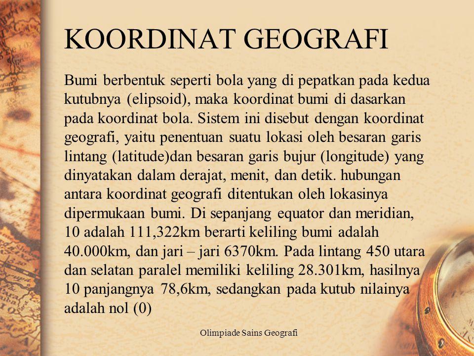 Olimpiade Sains Geografi Interpretasi Peta
