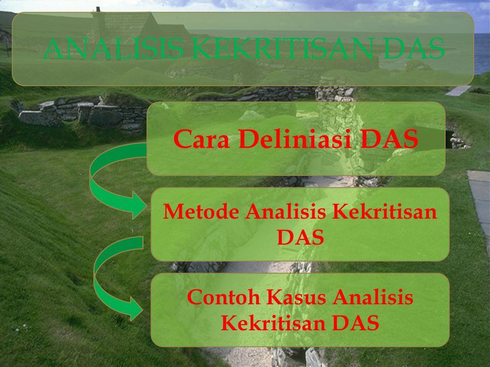Analisa Hidrologi Analisis hidrologi digunakan untuk menguji konsistensi data hujan yang diperoleh dengan menggunakan teknik lengkung massa ganda.