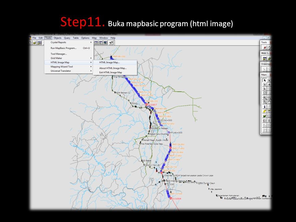 Step11. Buka mapbasic program (html image)