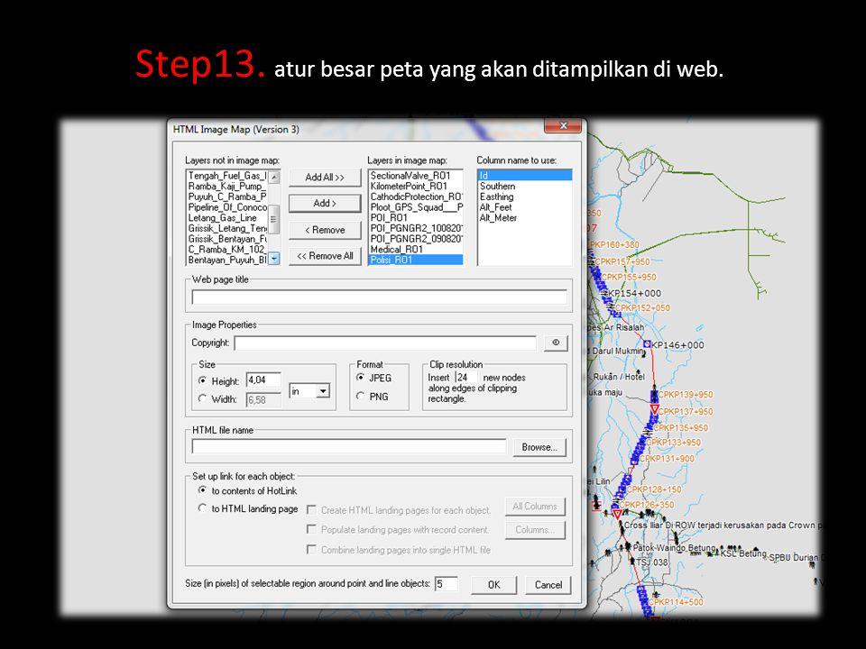 Step13. atur besar peta yang akan ditampilkan di web.