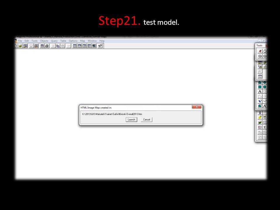 Step21. test model.