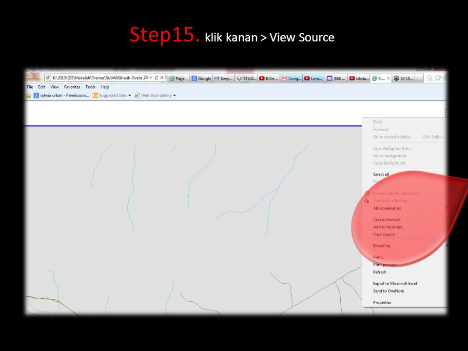 Step15. klik kanan > View Source
