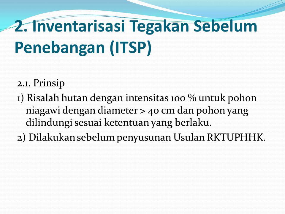 2.Inventarisasi Tegakan Sebelum Penebangan (ITSP) 2.1.