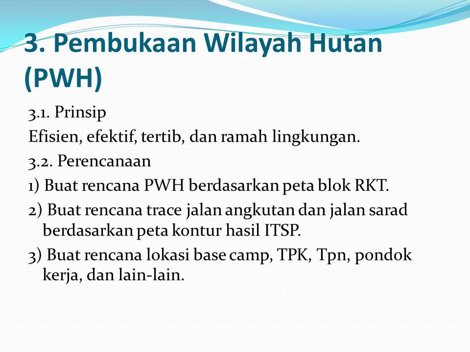 3.Pembukaan Wilayah Hutan (PWH) 3.1. Prinsip Efisien, efektif, tertib, dan ramah lingkungan.