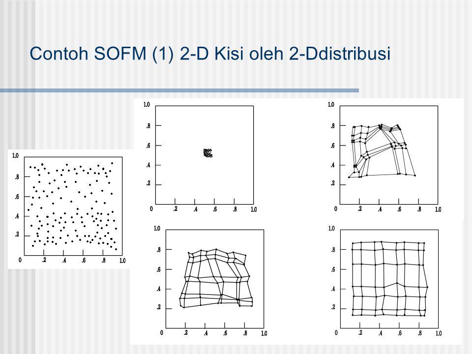 Contoh SOFM (1) 2-D Kisi oleh 2-Ddistribusi