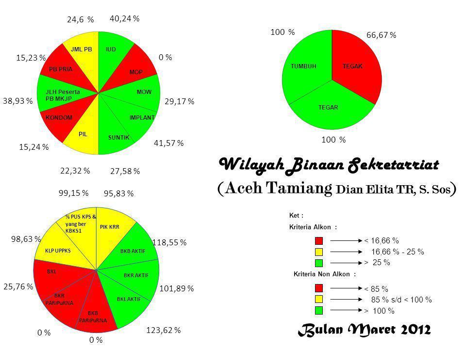 Bulan Maret 2012 < 16,66 % 16,66 % - 25 % > 25 % Ket : Kriteria Alkon : Kriteria Non Alkon : > 100 % 85 % s/d < 100 % < 85 % 40,24 % 0 % 29,17 % 41,57